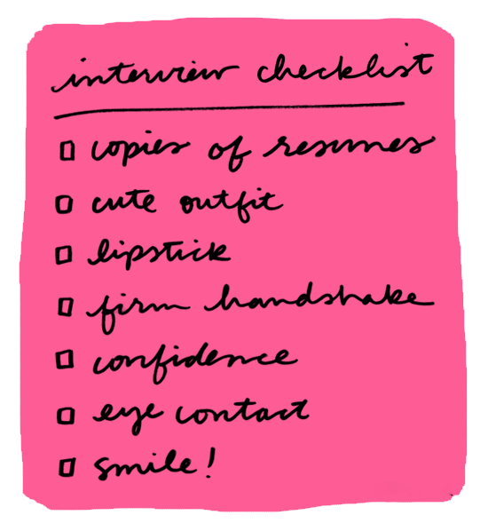 Heading to an #interview? Here's your checklist!