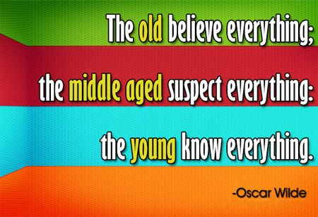 The #Old, the #Young & the wise!