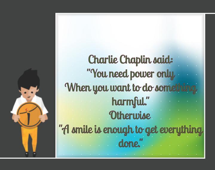 Ethos India,  WiseWords, CharlieChaplin