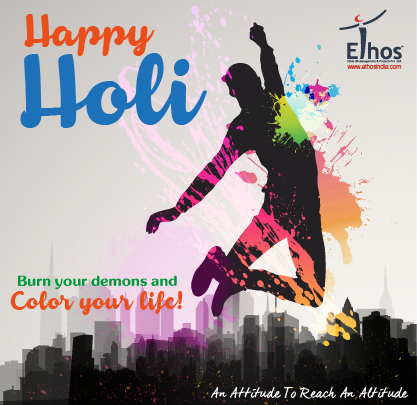 HAPPY HOLI!  Its time to burn your demons and COLOR YOUR LIFE!  #HoliHai