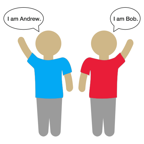"Put those #thinking caps on this #Weekend:  Andrew and Bob are talking to each other, but we do not yet know who is who.  The guy in the blue shirt says, ""I am Andrew.""  The guy in the red shirt says, ""I am Bob.""  If we know that at least one of them lied, what color shirt is Andrew wearing?  Note: There are only two people, and two shirts."