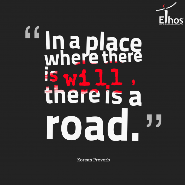 In a place where there is a will, there is a road.  #NewYear #Resolution #EthosIndia #Ahmedabad