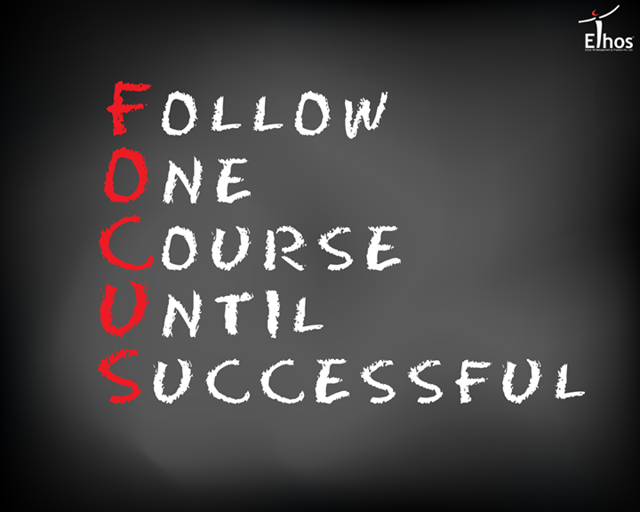 Be focused on your goal and work on it daily!   #MotivationalQuotes #WiseWords #EthosIndia #Ahmedabad