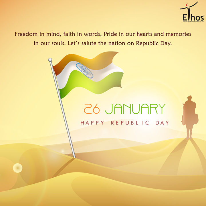 Our respectful salute to the glorious nation..  #HappyRepublicDay #RepublicDay #IndianRepublicDay