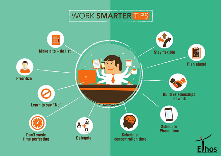 Be Smart Work Smart!  #WorkSmart #TipsforWork #Ethosindia #Ahmedabad