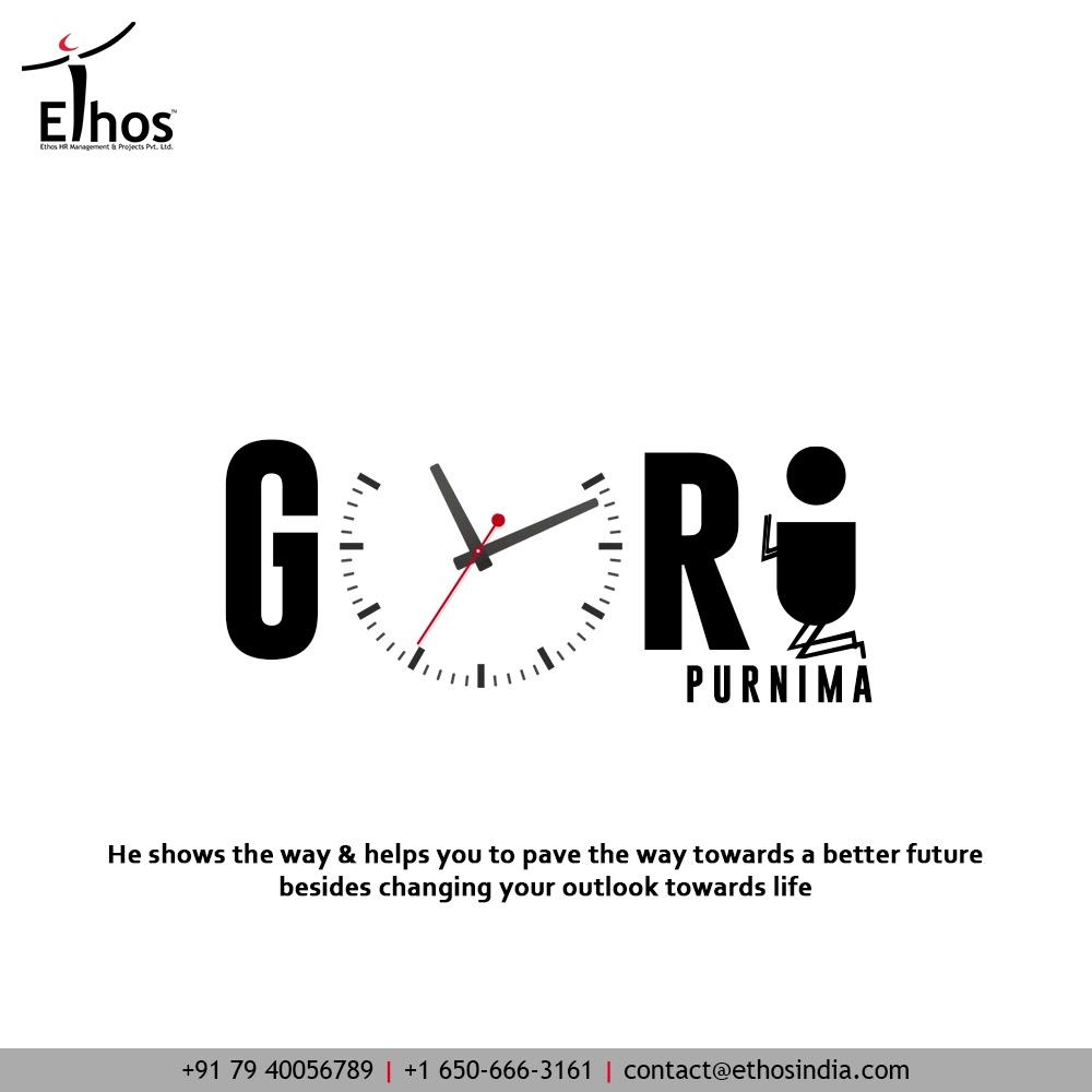 He shows the way & helps you to pave the way towards a better future besides changing your outlook towards life  #Gurupurnima2021 #Gurupurnima #HappyGuruPurnima #Guru #Guide #EthosIndia #Ahmedabad #EthosHR #Ethos #HR #Recruitment #CareerGuide #India