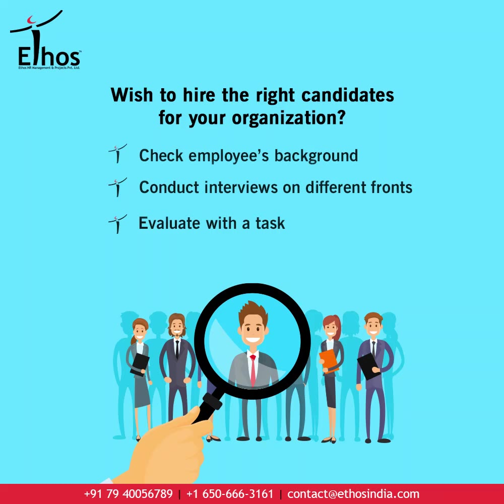 Wish to hire the right candidates to your organization? Check the employee's background Conduct interviews on different fronts Evaluate with a task  Keep the process of hiring and recruitment simplified.  #CareerCounselling #OurServices #CareerOpportunity #EthosIndia #Ahmedabad #EthosHR #Ethos #HR #Recruitment #CareerGuide #India