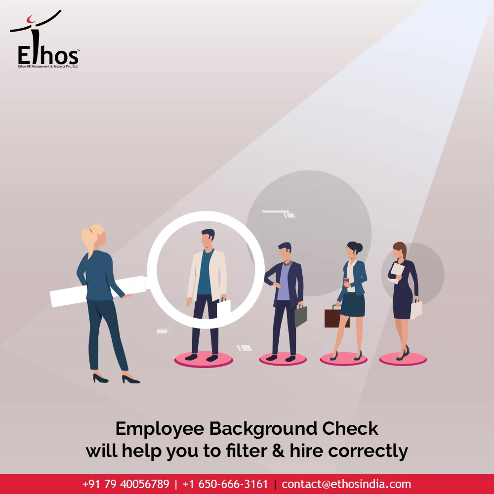 Have you heard of employee background check and its benefits? Too many candidates will apply for one job position; but it is employee Background Check that will help you to filter & hire correctly.  #EmployeeBackgroundCheck #JobRecruitment #EmployeeHiring #CareerCounselling #OurServices #CareerOpportunity #EthosIndia #Ahmedabad #EthosHR #Ethos #HR #Recruitment #CareerGuide #India