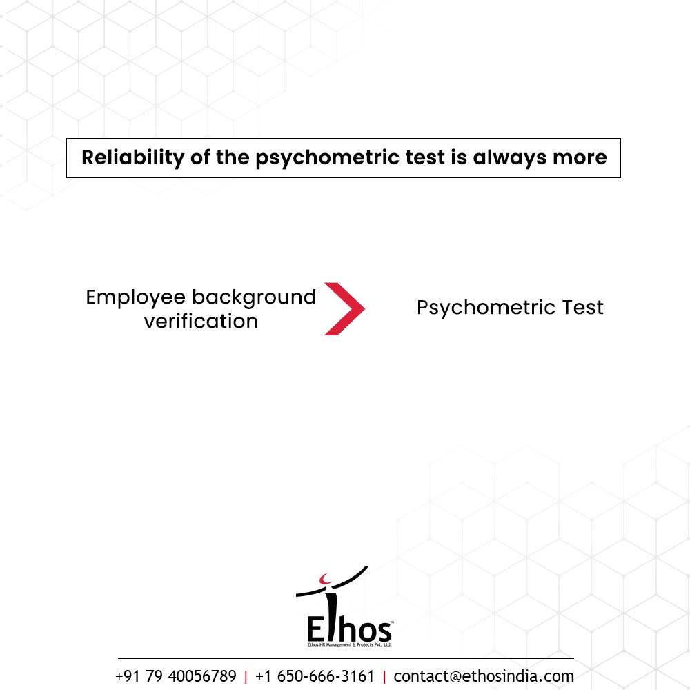 The number and percentage of people relying on Psychometric Test is gradually increasing over the period of time. Even the top-notch companies and the small-sized organizations are making use of psychometric tests to get valuable insights about the personal traits of the job applicants.  The tests are developed according to a scientific method and are designed to be objective and unbiased.  When the nation is working progressively on the wheels of progression, why just depend on intuitions and basic interviews? Recognize & acknowledge the value addition of psychometric test!  #CareerCounselling #OurServices #CareerOpportunity #EthosIndia #Ahmedabad #EthosHR #Ethos #HR #Recruitment #CareerGuide #India