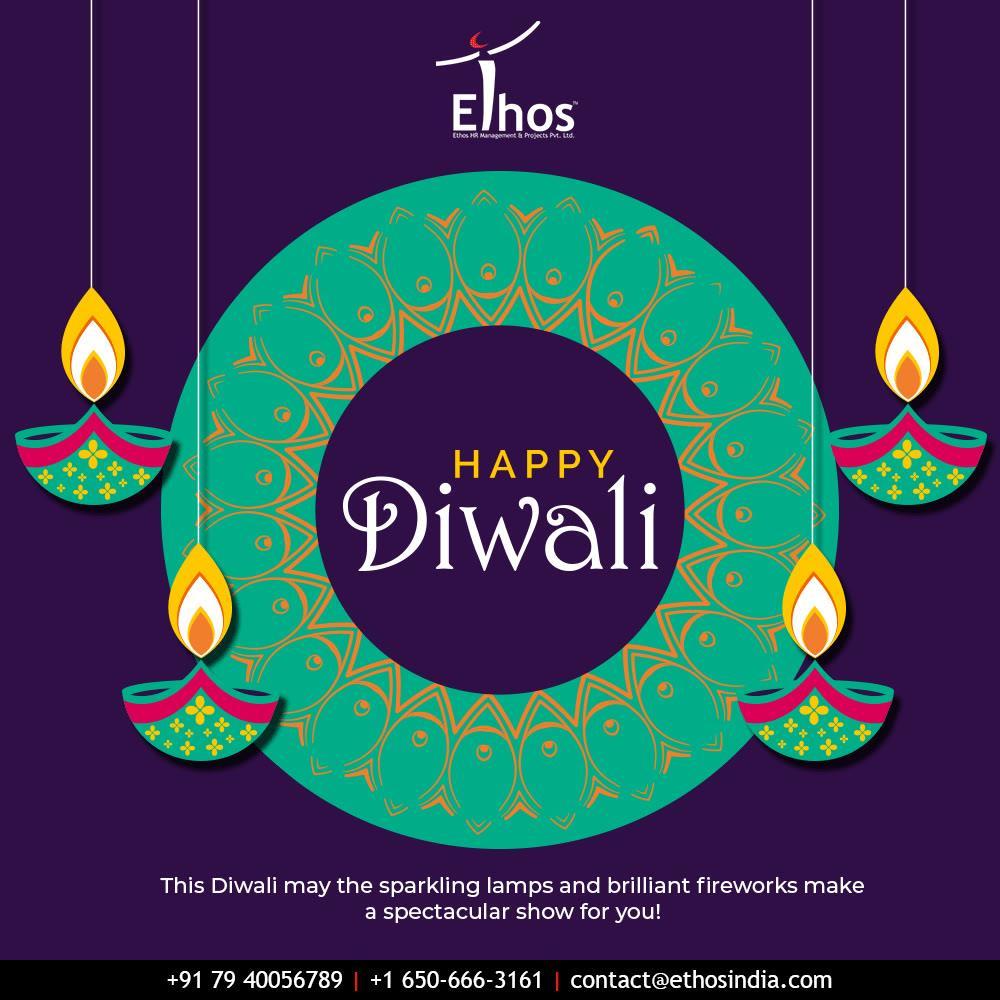 This Diwali may the sparkling lamps and brilliant fireworks make a spectacular show for you!   #HappyDiwali #IndianFestivals #Celebration #Diwali #Diwali2019 #FestivalOfLight #FestivalOfJoy #EthosIndia #Ahmedabad #EthosHR #Recruitment #CareerGuide #India