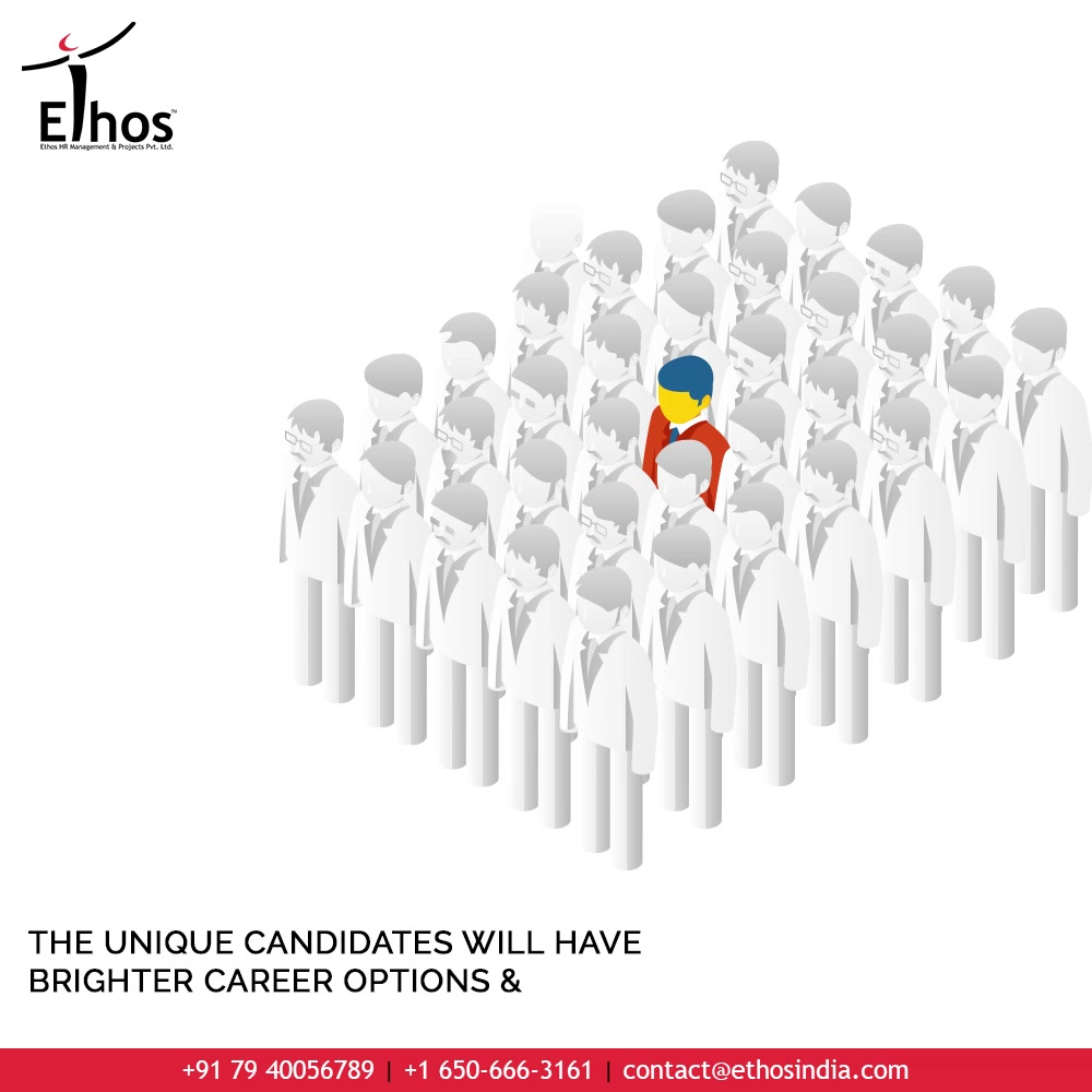 How unique are you as an individual and what unique qualities make you stand out?  Remember that your originality paired up with creativity, innovation and uniqueness will bring you broader chances to unfold brighter career options and possibilities.  #BeUnique #Uniqueness #JobRecruitment #EmployeeHiring #CareerCounselling #OurServices #CareerOpportunity #EthosIndia #Ahmedabad #EthosHR #Ethos #HR #Recruitment #CareerGuide #India