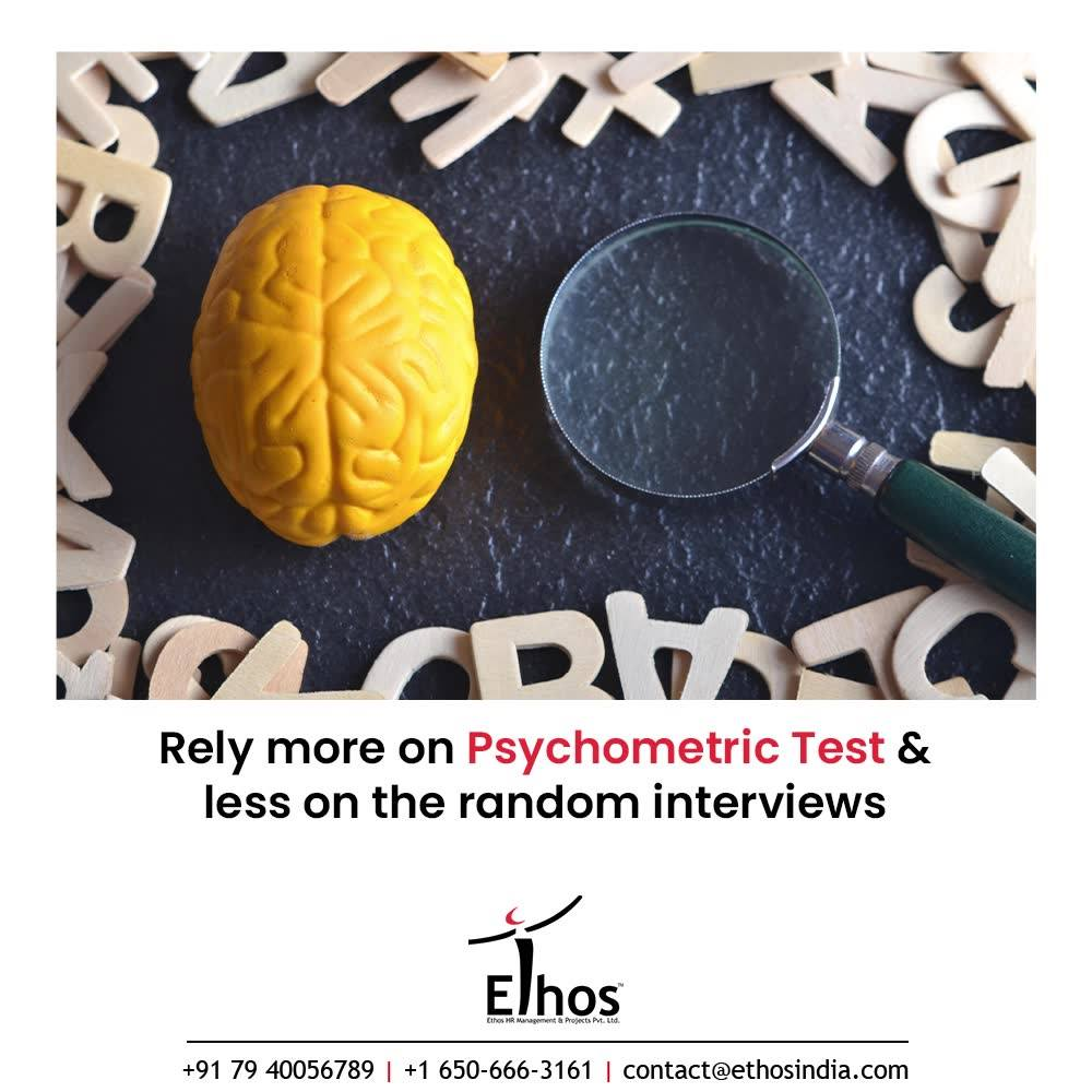 It is natural for the candidates to fake and sing their own praises during an interview. But how can you afford to take their words for granted?  The candidates appearing for a job interview are more likely to blow their own trumpets. So what you need to do is rely more on Psychometric Testing and less on the random interviews.  #CareerCounselling #OurServices #CareerOpportunity #EthosIndia #Ahmedabad #EthosHR #Ethos #HR #Recruitment #CareerGuide #India