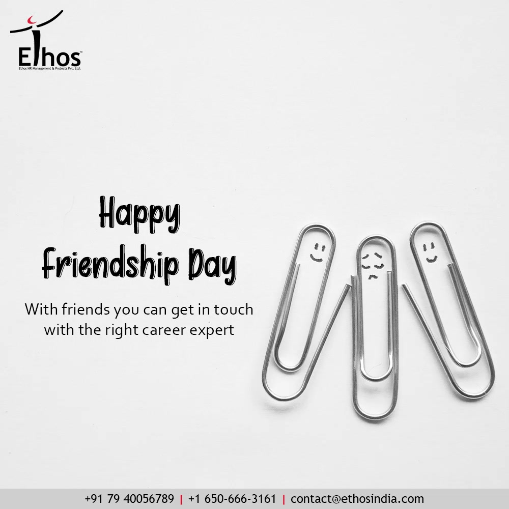 Alone you can only remain sad & confused With friends you can get in touch with the right career expert & Together we can defeat the evil called unemployment Let us be-friend success for a lifetime.  #FriendshipDay2021 #HappyFriendshipDay #FriendshipDay #FriendsForever #Friendship #Friends #EthosIndia #Ahmedabad #EthosHR #Ethos #HR #Recruitment #CareerGuide #India