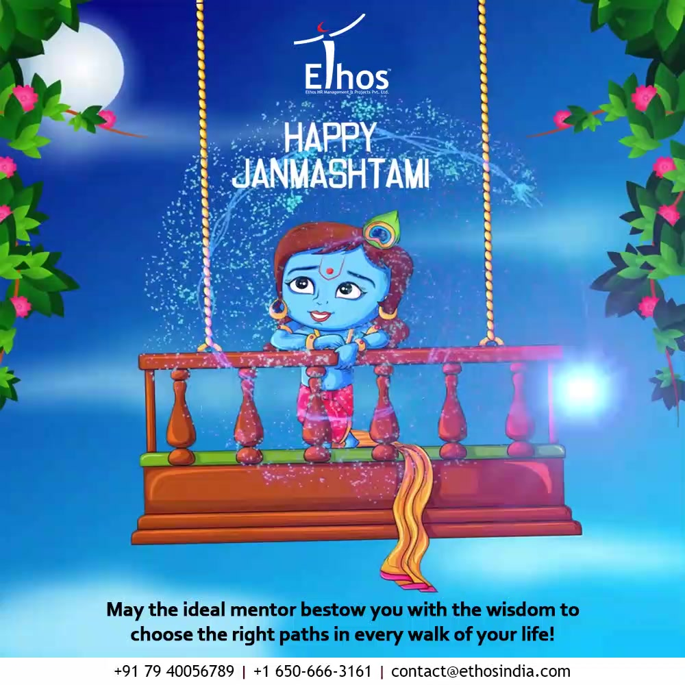 May the ideal mentor bestow you with the wisdom to choose the right paths in every walk of your life!  #HappyJanmashtami2021 #JanmashtamiCelebrations #DahiHandi #HappyJanmashatami #Janmashtami2021 #LordKrishna #Krishna #ShriKrishna #KrishnaJanmashtami #EthosIndia #Ahmedabad #EthosHR #Ethos #HR #Recruitment #CareerGuide #India